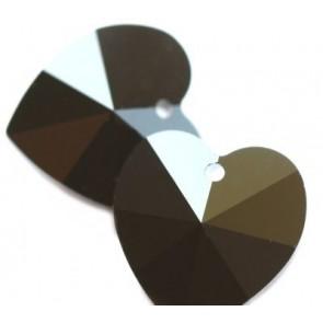 obesek Swarovski 14.4x14 mm, srce, jet, 1 kos