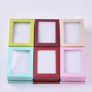 škatla za nakit 9.2x7.2~7.3x2.5 cm, sv.roza barve, 1 kos
