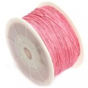 bombažna vrvica 0,8 mm, roza, dolžina: 95 m