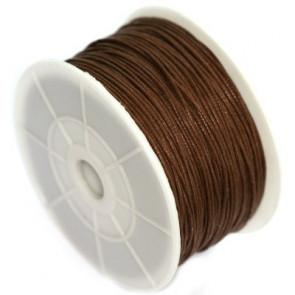 bombažna vrvica 0,8 mm, rjava, dolžina: 80 m
