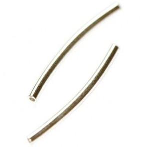 dodatek za nakit, cevke ukrivljene, 20 mm, posrebrene, 10 kos