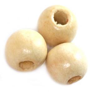 lesene perle, okrogle 11x12 mm, beige, 50 gr