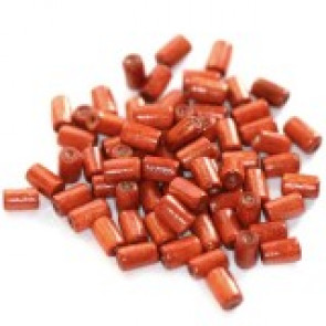 lesene perle, cevne 8x4 mm, rdeče, 50 gr