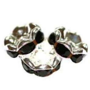 vmesni obročki s cirkoni 8 mm, black, 1 kos