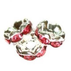 vmesni obročki s cirkoni 6 mm, rose, 1 kos