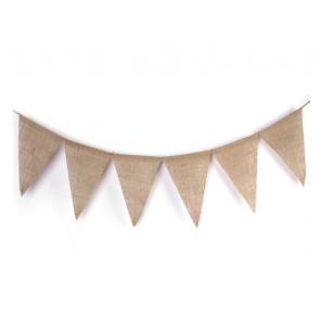 "okrasni trak ""girlande"" trikotniki, juta-rjava b., 3 m, 1 komplet (12 kosov)"