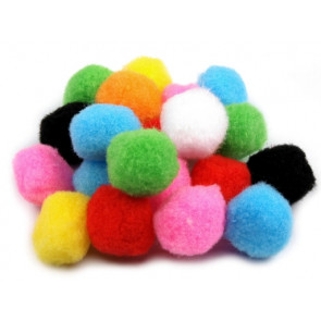 pom pom kroglice 25 mm, mix, 50 kos
