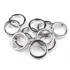 povezovalni člen, plastičen, 24 mm, srebrne b., 1 kos