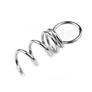nastavek z vijakom za obesek / za stiropor kroglice,1x3 cm, srebrne barve, 1 kos