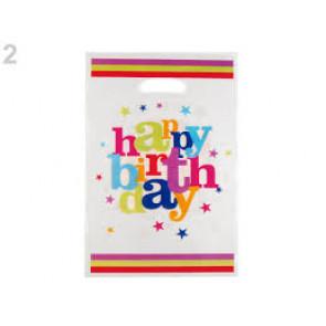 vrečka pvc 16x25 cm, rojstnodnevna, 10 kos