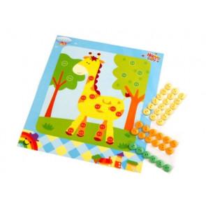 set za ustvarjanje z gumbi, žirafa, 1 komplet