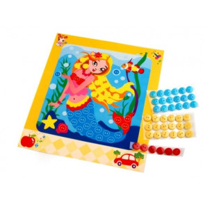 set za ustvarjanje z gumbi, morska deklica, 1 komplet