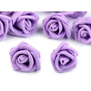 dekorativna roža, penasta, 2,8x4 cm, vijolična b., 1 kos