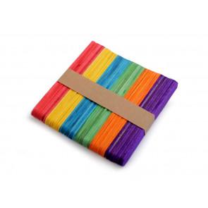 lesene sladoledne palčke 110x10x2 mm, barvni mix, 50 kos