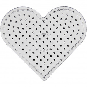 plošča za hama perle 10x10 mm - srce 17x15.5 cm, 1 kos