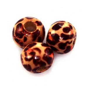 lesene perle okrogle, 8 mm, 50 kos