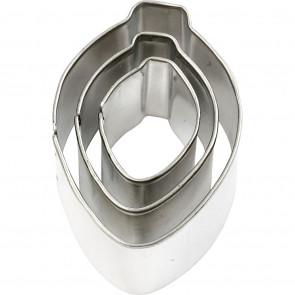 kovinski izrezovalnik, solza, cca. 30x40 mm, 1 komplet (3 kosi)