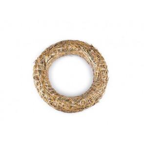 obroč iz slame - osnova za venček, naraven material, zunanji premer: Ø30 cm, debelina: Ø5 cm, 1 kos