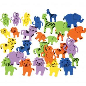 živali iz moosgume - samolepilne, 25-45 mm ,debelina: 2 mm, mix, 10 kos
