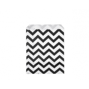 papirnata vrečka, 10x14 cm, črna cik-cak, 1 kos