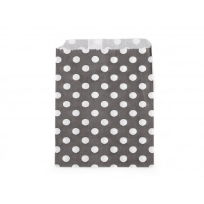 papirnata vrečka, 13x17 cm, črna s pikami, 1 kos