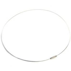 """osnova za ogrlico z zaključkom - """"zajla"""", srebrna, 1 kos"""