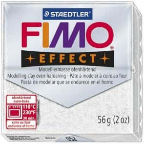 FIMO SOFT modelirna masa, bela z bleščicami (052), 56 g