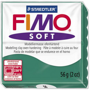 FIMO SOFT modelirna masa, smaragdna b. (56), 56 g