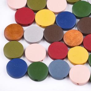 lesene perle 5~5.5-30 mm, luknja: 2 mm, mix, 20 kos