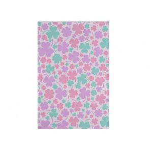 """vrečka iz celofana z motivom triperesne deteljice, 16x24.5 cm, """"pink - mint"""" b., 1 kos"""