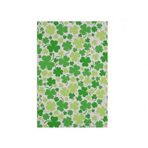 """vrečka iz celofana z motivom  deteljice, 16x24.5 cm, """"irish green"""" b., 1 kos"""