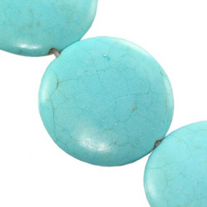 perle iz sintetičnega kamna 25 mm, turkizne, 1 kos