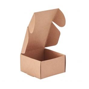 zložljiva škatla iz kartona,  6.2x6.2x3.5 cm, rjava, 1 kos