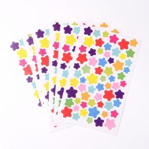 samolepilne nalepke, motiv zvezde, barva mix, 9x15 cm, 1 pola (motivi kot na sliki)