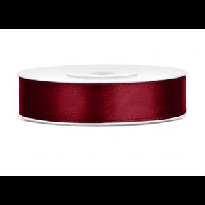 satenast trak, temno rdeč, širina: 12 mm, dolžina: 25 m, 1 kos