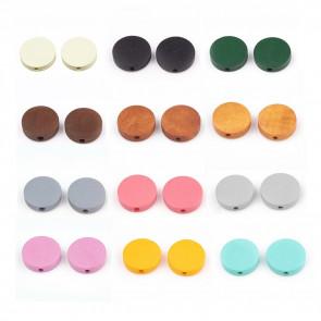 lesene perle 4x15 mm, luknja: 1.8 mm, mix, 10 kos