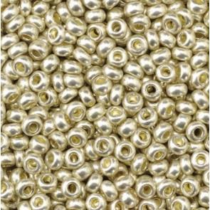 EFCO steklene perle 2,6 mm, srebrne, kovinske barve, 17 g
