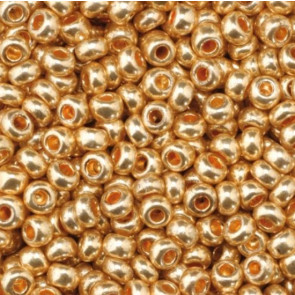EFCO steklene perle 2,6 mm, rdeče zlate, kovinske barve, 17 g