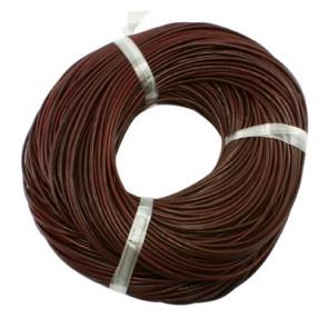 usnjena vrvica 3 mm, rjave b., 5 m