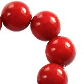 perle Swarovski okrogle, 6 mm, red coral, 1 kos