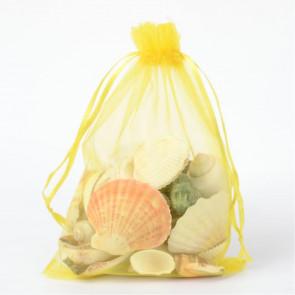 organza vrečke 13x18 cm, rumene b., 1 kos
