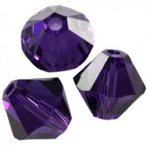 perle Swarovski 4 mm, purple velvet, 1 kos