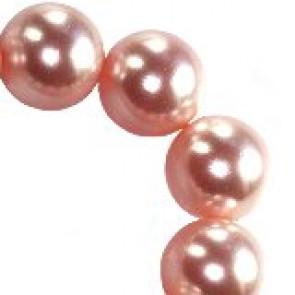 perle Swarovski okrogle, 6 mm, peach, 1 kos