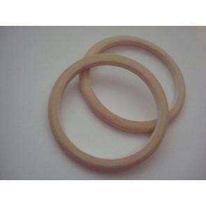 osnova za zapestnico - lesena 78x62~65x6 mm, naravna, 1 kos