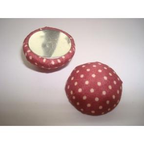 kapljica iz aluminija - obložena z blagom, 15x7 mm, rdeče-rjava,