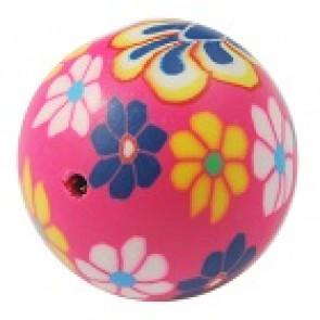fimo perle okrogle 8 mm, roza, ročno delo, 5 kos