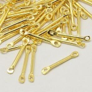 kovinski dodatek 15x2mm, zlate b., 5 kos