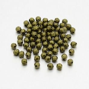 kovinske perle 4x3.5 mm, antik, 50 kos