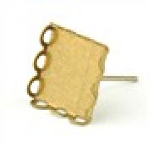 osnova za uhan 11 x 11 mm, antik, brez niklja, velikost kapljice: 10x10 mm, 1 kos