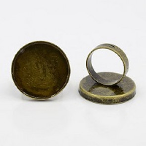 osnova za prstan za kapljico 25 mm, premer nastavljivega obročka: 17 mm, antik, 1 kos